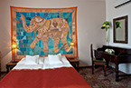 Indian-style room in the Tacl Hotel